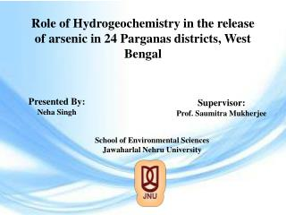 Role of Hydrogeochemistry in the release of arsenic in 24 Parganas districts, West Bengal