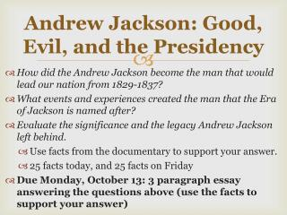 how did andrew jackson change the presidency