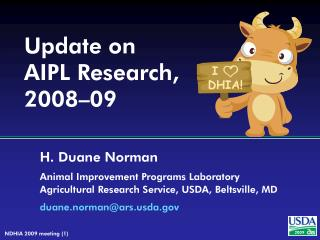 Update on AIPL Research, 2008–09