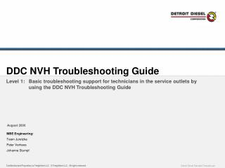 DDC NVH Troubleshooting Guide