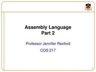 Assembly Language Part 2