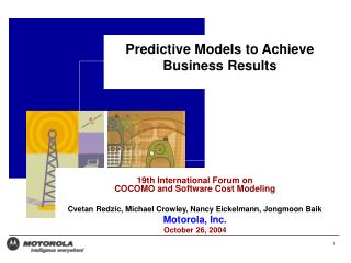 Predictive Models to Achieve Business Results
