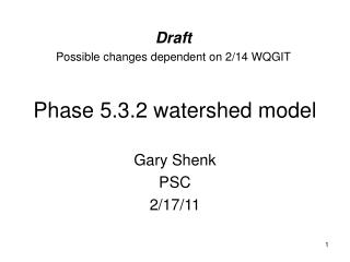 Phase 5.3.2 watershed model