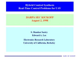 Hybrid Control Synthesis Real-Time Control Problems for UAV