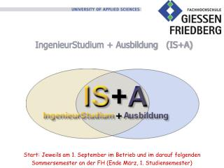 IngenieurStudium + Ausbildung   (IS+A)