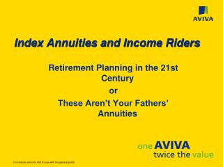 Index Annuities and Income Riders