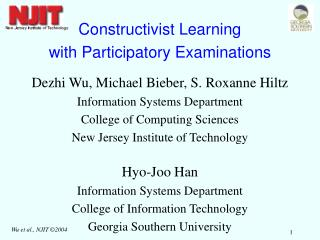 Constructivist Learning with Participatory Examinations