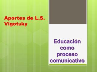 Aportes de L.S. Vigotsky