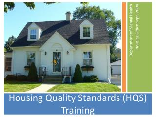 Housing Quality Standards (HQS) Training