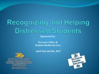 Recognizing and Helping Distressed Students