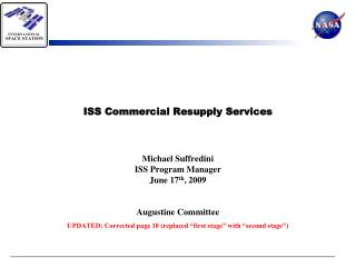 ISS Commercial Resupply Services