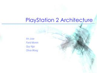 PlayStation 2 Architecture