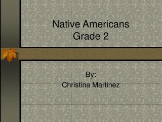 Native Americans Grade 2