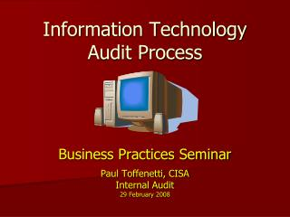 Information Technology Audit Process