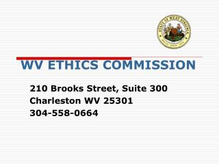 WV ETHICS COMMISSION