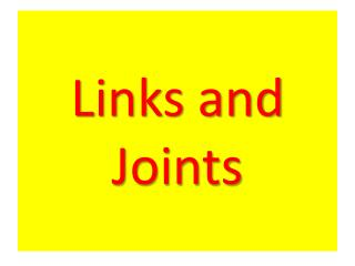 Links and Joints