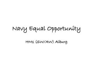 Navy Equal Opportunity