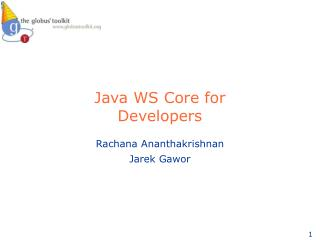 Java WS Core for  Developers