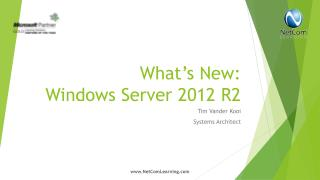 What's New: Windows Server 2012 R2