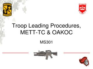 Troop Leading Procedures, METT-TC & OAKOC