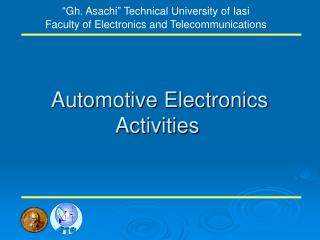 Automotive Electronics  Activities