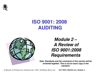 ISO 9001: 2008   AUDITING