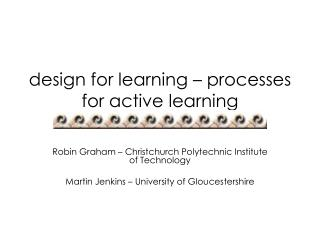 design for learning – processes for active learning