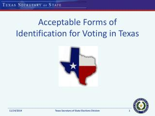 Acceptable Forms of Identification for Voting in Texas