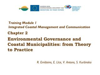 Training Module 1 Integrated Coastal Management  and Communication