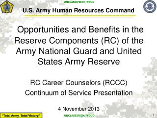 U.S. Army Human Resources Command