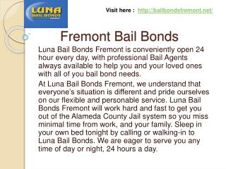 Bail Bonds Fremont
