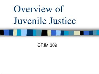 Overview of Juvenile Justice