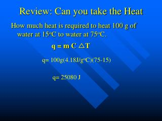 Review: Can you take the Heat