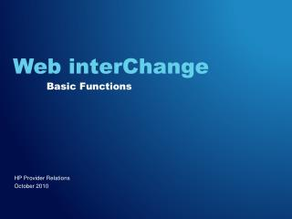 Web interChange