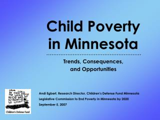 Child Poverty  in Minnesota