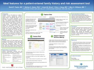 Ideal features for a patient-entered family history and risk assessment tool