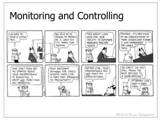 Monitoring and Controlling