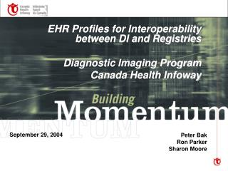 EHR Profiles for Interoperability between DI and Registries Diagnostic Imaging Program
