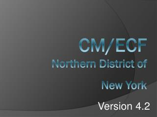 CM/ECF Northern District of New York