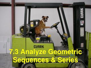 7 .3 Analyze Geometric Sequences & Series
