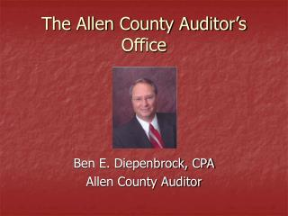 The Allen County Auditor s Office