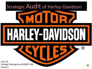 Strategic  Audit  of Harley-Davidson