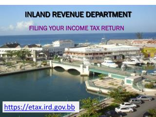 FILING YOUR INCOME TAX RETURN