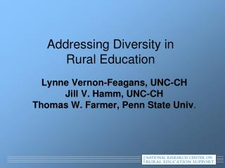 Addressing Diversity in  Rural Education