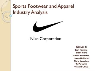 Sports Footwear  and  Apparel  I ndustry Analysis