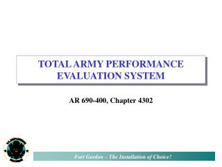 TOTAL ARMY PERFORMANCE EVALUATION SYSTEM