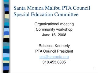Santa Monica Malibu PTA Council Special Education Committee