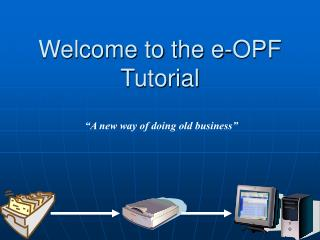 Welcome to the e-OPF Tutorial