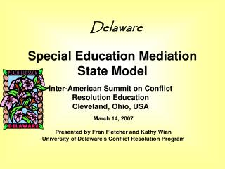 Special Education Mediation State Model
