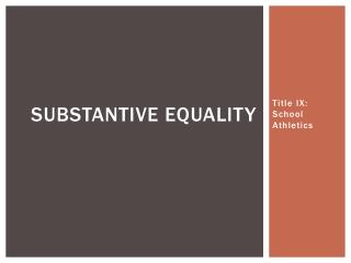 Substantive equality
